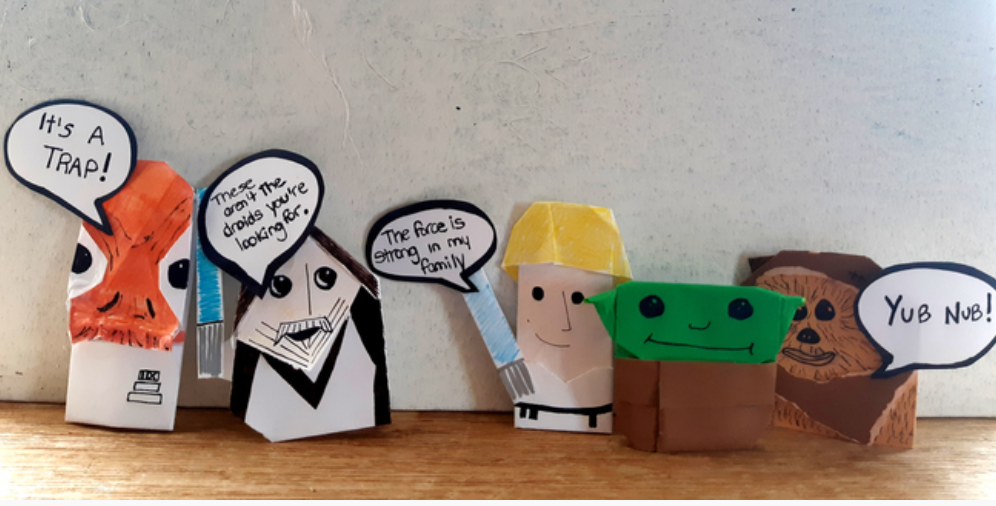 Origami Star Wars Characters: Yoda, Darth Vader and a Stormtrooper | 506x996
