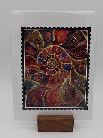 Ammonite Card by Christine Earl