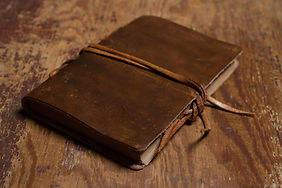 Handmade paper diary notebook in brown l