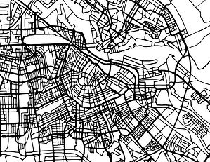 amsterdam-holland-map-in-black-and-white