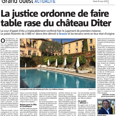 Droit pénal de l'urbanisme : la cour d'appel d'Aix-en-Provence confirme la démolition de