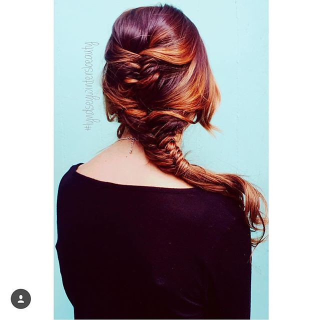 gloss the salon fishtail braid