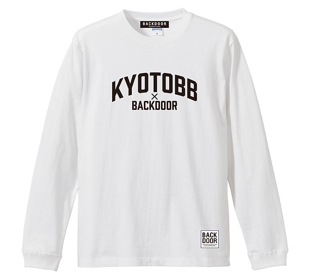 BKDR x KYOTOBB Long Sleeve Tee (white/black)