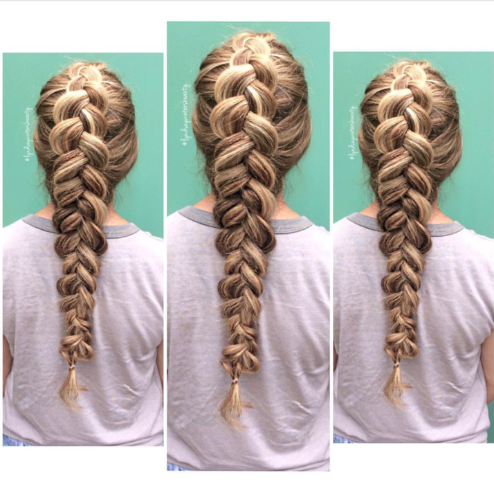 gloss the salon dutch braid