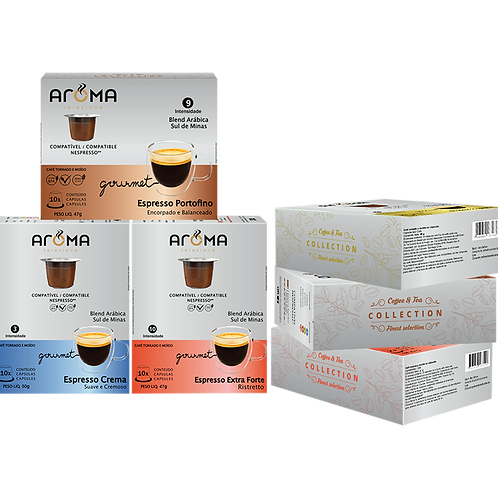 Kit Espresso Gourmet - 60 Cápsulas