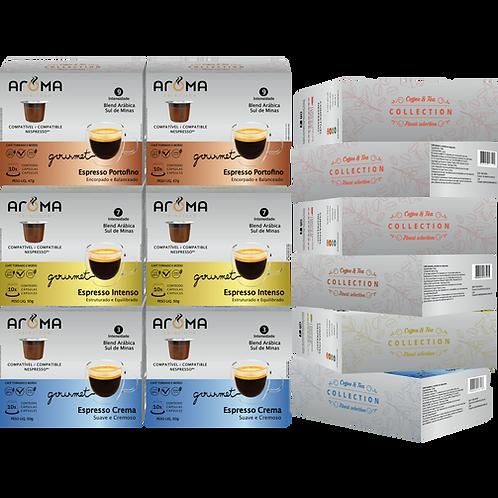 Kit Espresso Gourmet - 120 Cápsulas