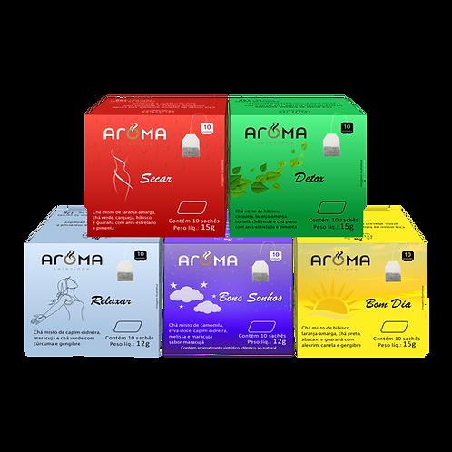 Kit Chás Funcionais Degustação - 50 Sachês