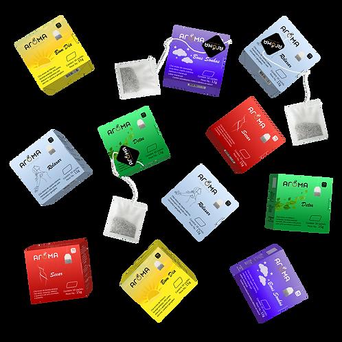 Kit Chás Funcionais Personalizado - 200 Sachês