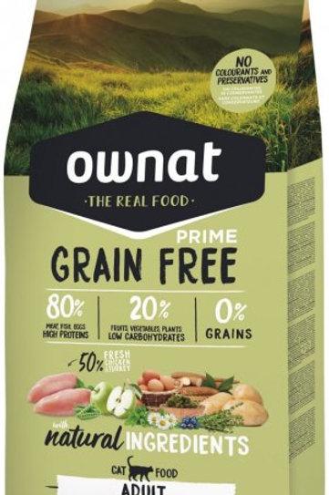 Ownat Prime Grain Free Chat Adulte Poulet Dinde 3kg ou 8kg