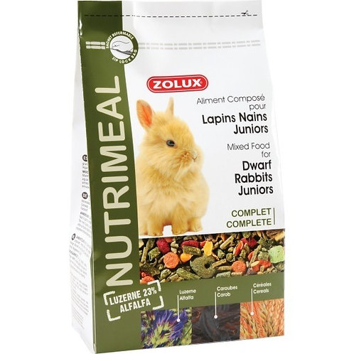 Nutrimeal lapins nains junior 800g  - Zolux