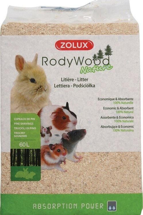 Litière Rodywood Nature 16l ou 60l - Zolux