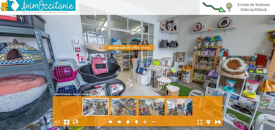visite 360° magasin Animoccitanie AUTERIVE