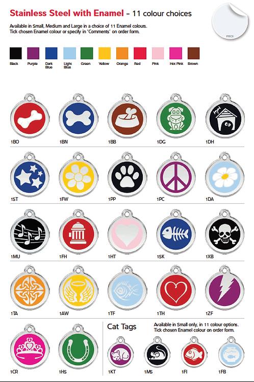 Médaille chien ou chat - 11 couleurs au choix - Gravure et livraison gratuite