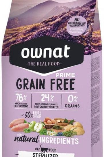 Ownat Prime Grain Free Chat Stérilisé 3kg ou 8kg