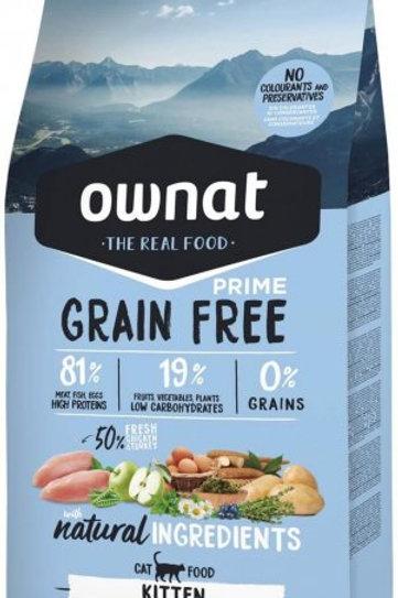 Ownat Grain Free Kitten 1kg ou 3kg