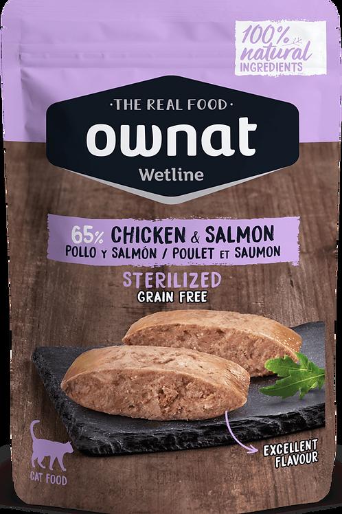 Ownat Wetline Sans Céréales Poulet Saumon