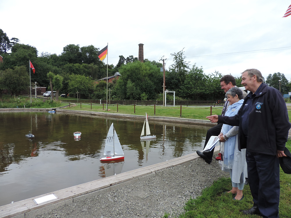 Wall Sykes, chairman of the Model Railway Centre describe the building of the new boating lake to Nicola and Joe.