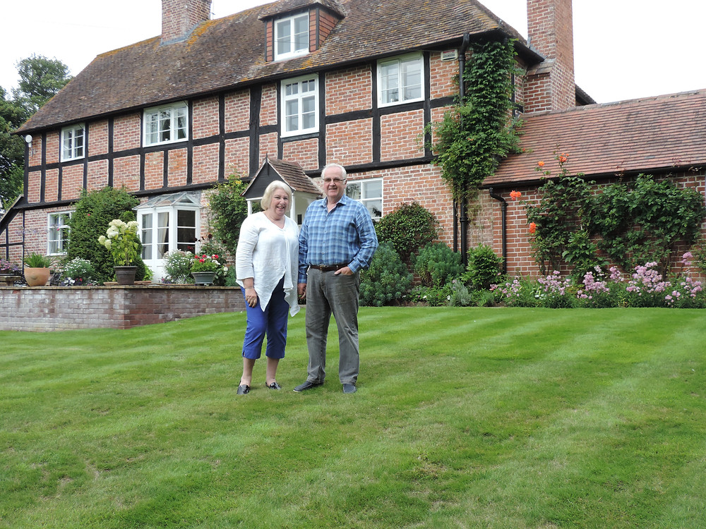 Jane and Don Priestman in their country garden