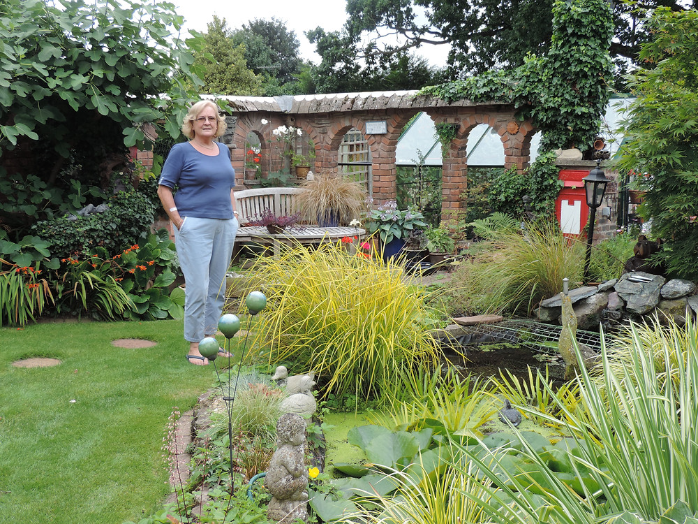 Mrs Saville in her city garden