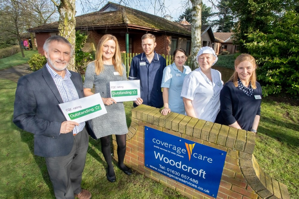 Chief executive David Coull, manager Kelly Lowry, assistant manager Tom Barber, care assistant Sue Steele, kitchen manager Sharon Edwards and staff member Heather Erzincanoglu