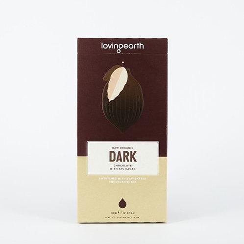 72% Dark Chocolate by Loving Earth