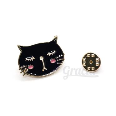 Prendedor Gato Negro