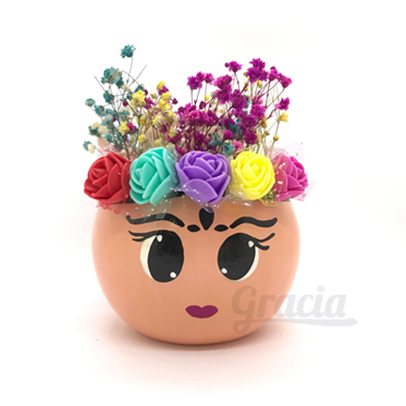 Maceta Frida Ojos Grandes