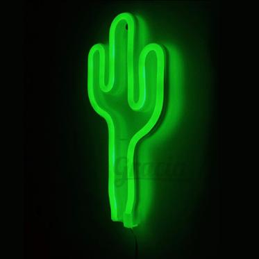 Lámpara Cactus Neón