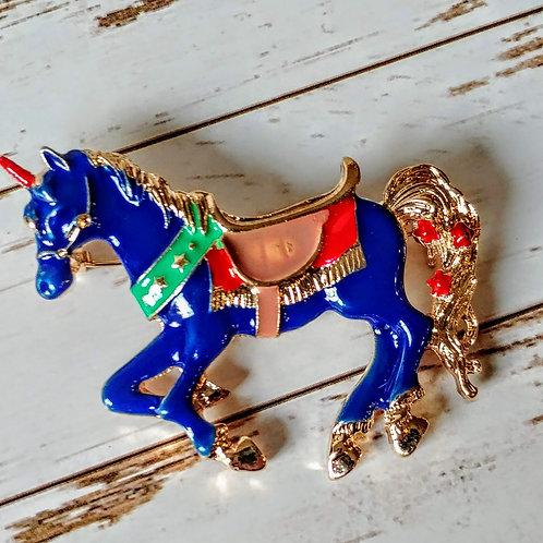Unicorn Carousel Horse Pin