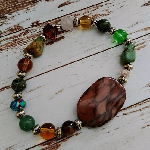Sage Mix Gemstone Bracelet