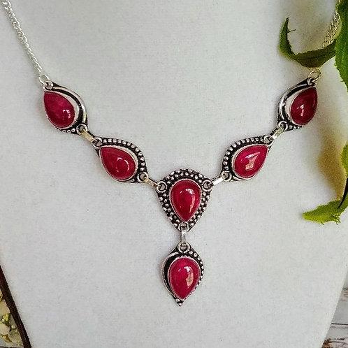 Fuchsia Agate Necklace