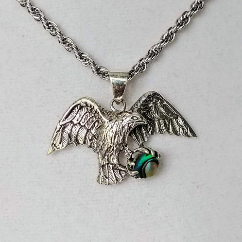 American Eagle Abalone Pendent