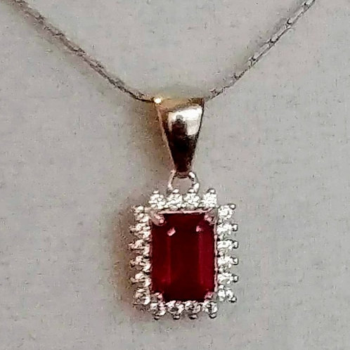 Rich Red Ruby Pendent