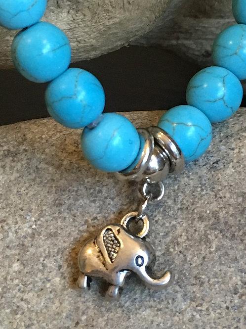 Lucky Elephant Turquoise Bracelet