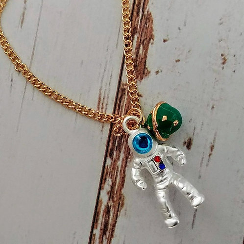 Astronaut & Planet Necklace