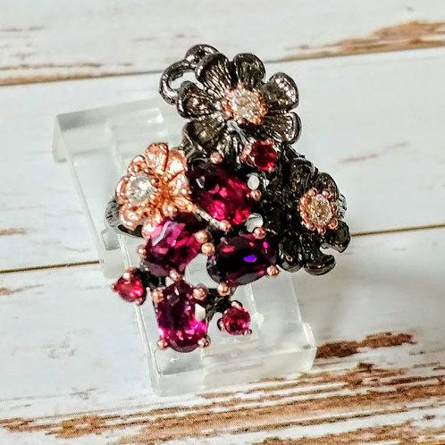 Garnet Artisan Ring
