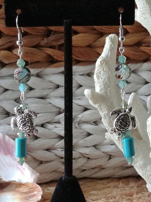 Sea Turtle Dance Earrings