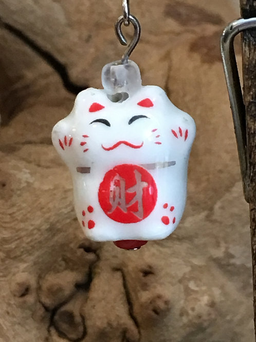 Cute Chinese Lucky Cat Earrings