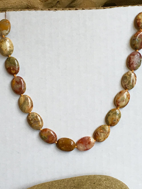 Crazy Lace Agate Beaded Necklace