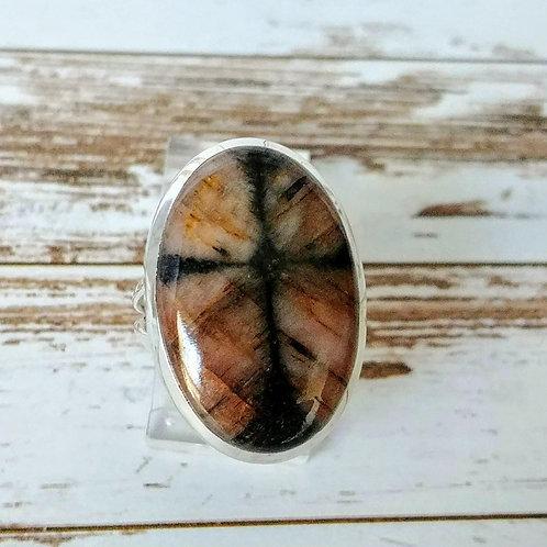 Cross Stone Sterling Ring