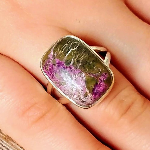 Variscite in Purpurite Sterling Ring