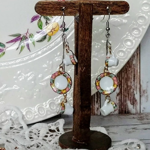 Spring China Earrings