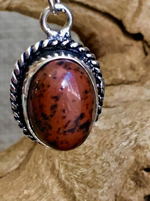 Rare Red Obsidian Earrings