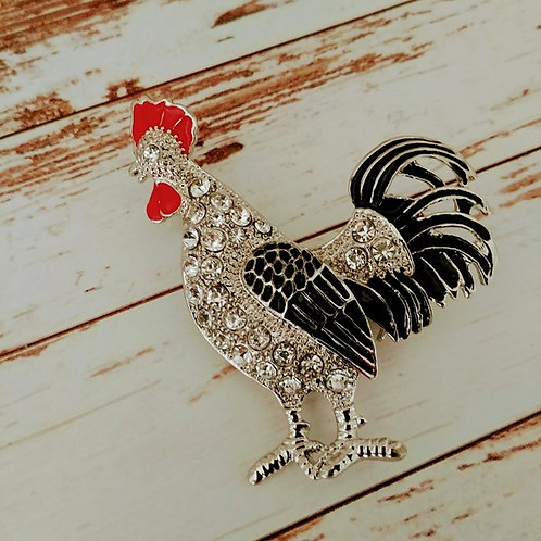 Country Rooster Pin