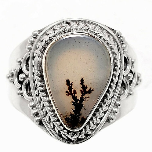 Russian Dendritic Sterling Ring