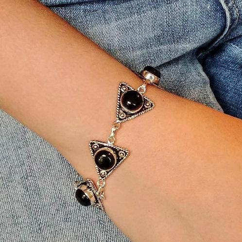 Black Onyx Geometric Bracelet