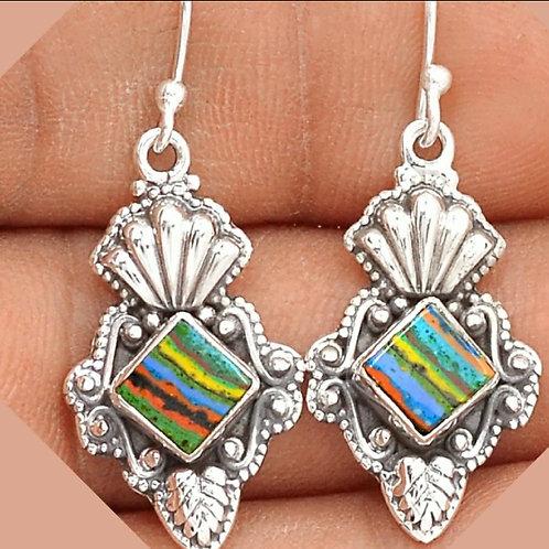 Artisan Mosaic Calsilica Earrings