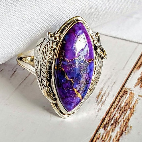 Purple Copper Turquoise Southwest Ring