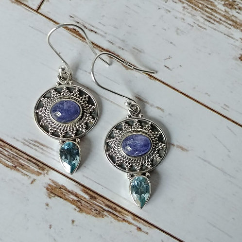 Blue Velvet Kyanite Sterling Earrings