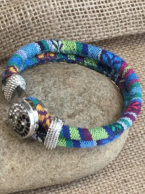 Bohemian Cloth Yin Yang Snap Chunk Bracelet